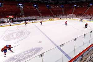 Treino de hockey no gelo - Montreal - Canadá
