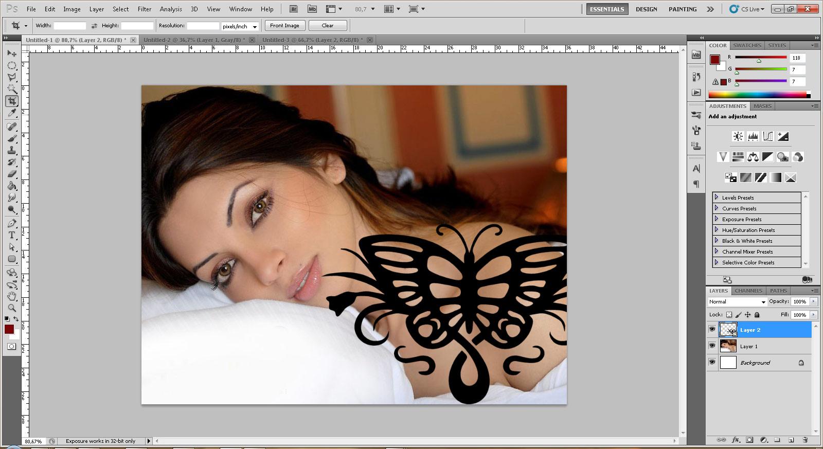 [Photoshop] Fazendo uma tatuagem no PS 51