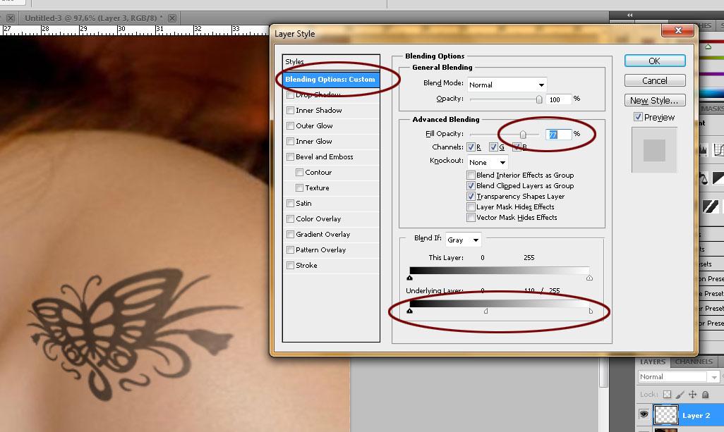 [Photoshop] Fazendo uma tatuagem no PS 91
